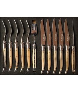 Steakmesser-Set mit Gabel...